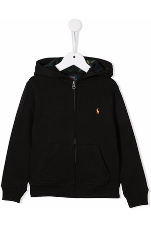 Ralph Lauren Embroidered-logo zip-up hoodie
