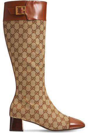 Gucci Mujer Botas altas - Botas Altas Ellis De Lona Y Piel 45mm