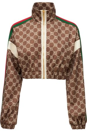 Gucci Chaqueta Corta De Jersey Técnico Con Logo