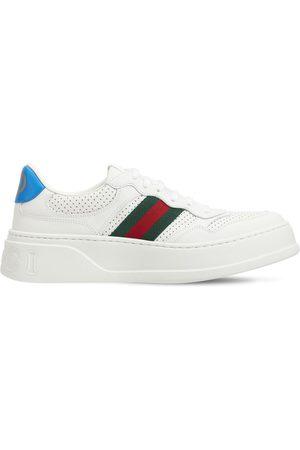 Gucci Sneakers Chunky B De Piel Con Tribanda 50mm