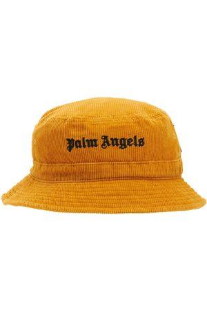 PALM ANGELS Gorro Bucket De Pana Con Logo