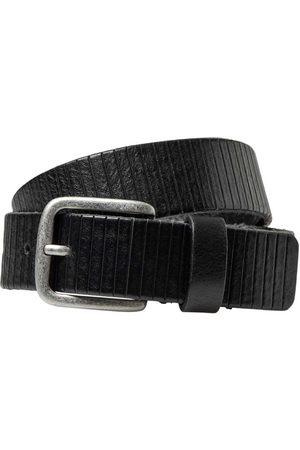 JACK & JONES Cinturón Royale Leather Vegetable 105 cm Black