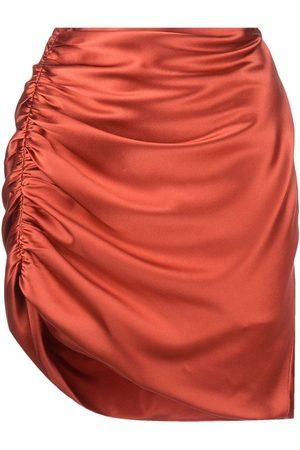 Michelle Mason Mujer Faldas - Falda drapeada de satén