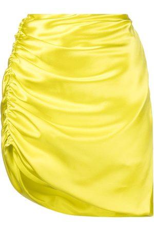 Michelle Mason Mujer Midi - Falda midi con diseño asimétrico