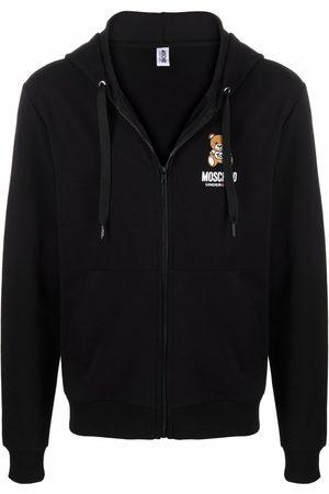 Moschino Teddy-logo zipped hoodie