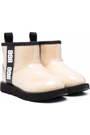 UGG Logo-print high-shine ankle boots