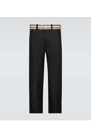 ADISH Pantalones de algodón con cinturón