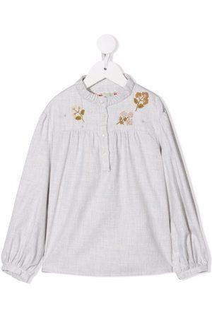 BONPOINT Blusa con bordado floral
