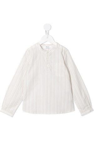 BONPOINT Niño Camisas - Striped collarless shirt