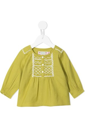 BONPOINT Blusas - Embroidered button-up blouse