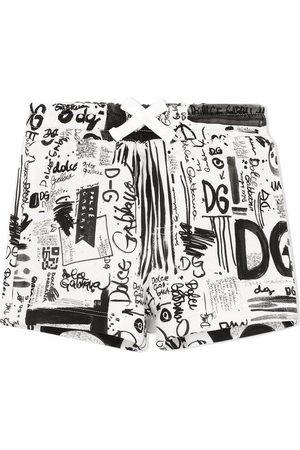 Dolce & Gabbana Bermudas elásticas con estampado de grafiti