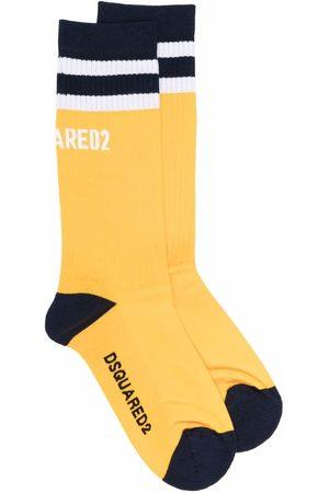 Dsquared2 Colour-block ribbed socks