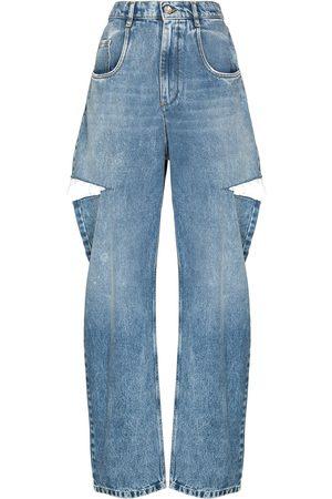 Maison Margiela Mujer Rectos - Jeans rectos con efecto envejecido