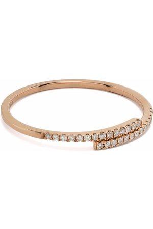 DJULA Anillo You and Me en oro rosa de 18kt con diamantes