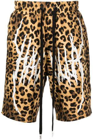 HACULLA Hombre Bermudas - Shorts con estampado de leopardo