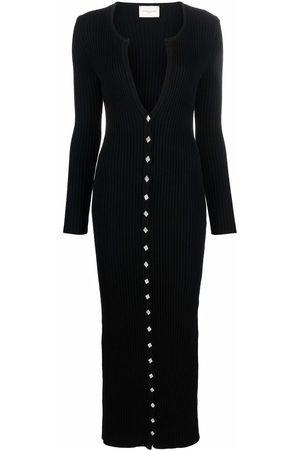 GIUSEPPE DI MORABITO Mujer Maxi - Vestido largo tejido de canalé