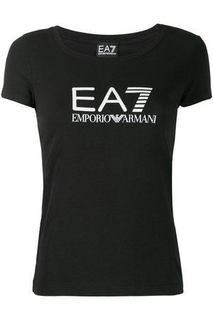 EA7 Mujer Playeras - Playera con logo estampado