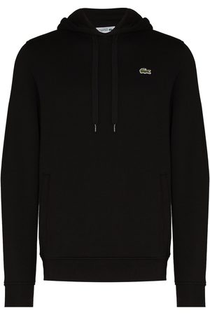 Lacoste Logo-embroidered cotton hoodie