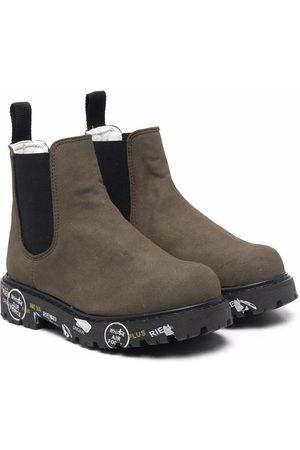 Premiata Contrast-sole ankle boots