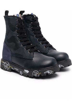 Premiata Contrast-sole leather boots