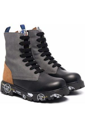 Premiata Niño Botas y Botines - Panelled leather boots