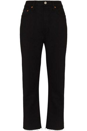 RE/DONE Mujer Rectos - Jeans Stove Pipe de tiro alto