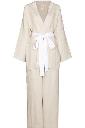 Deiji Studios Mujer Conjuntos de lencería - Conjunto de dos piezas con lazo en la cintura