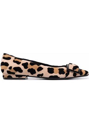 Sergio Rossi Mujer Mocasines - Mocasines con estampado de leopardo