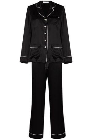 Olivia von Halle Mujer Conjuntos de lencería - Pijama de seda con ribete en contraste