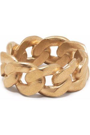 Maison Margiela Hombre Joyería - Anillo Chain en plata de ley bañada en oro