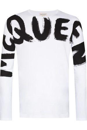 Alexander McQueen Hombre Playeras - Playera con logo de grafiti