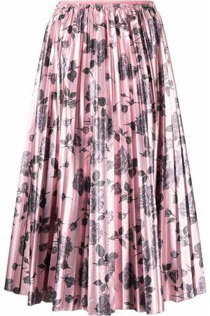 RED Valentino Mujer Estampadas - Falda con estampado floral