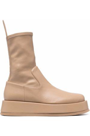 GIABORGHINI Botas de plataforma estilo calcetín