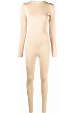 Atu Body Couture Jumpsuit manga larga con diseño stretch