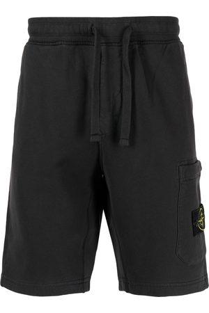 Stone Island Hombre Shorts - Shorts con parche del logo
