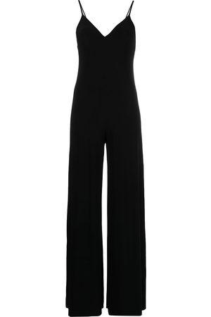 Norma Kamali Mujer Largos - Jumpsuit con escote en V pronunciado