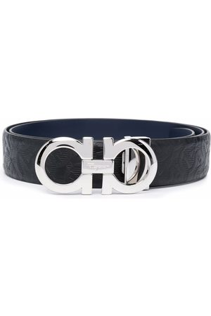 Salvatore Ferragamo Hombre Cinturones - Cinturón con logo Gancini