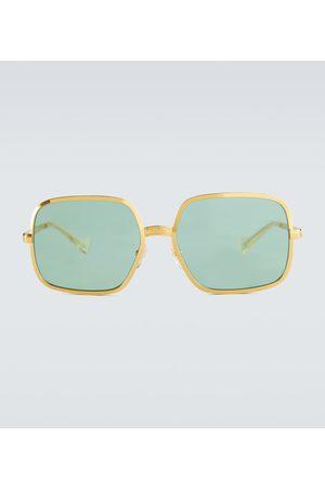 Gucci Gafas de sol metálicas cuadradas