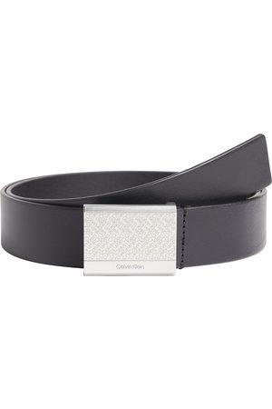 Calvin Klein Hombre Cinturones - Cinturón Clean Plaque Engraved 35mm 100 cm Ck Black