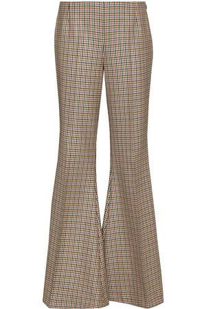 Stella McCartney Mujer Acampanados - Pantalones acampanados con motivo pied de poule