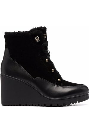 Tommy Hilfiger Mujer Botas y botines - Warm-lined Mid Wedge leather boots