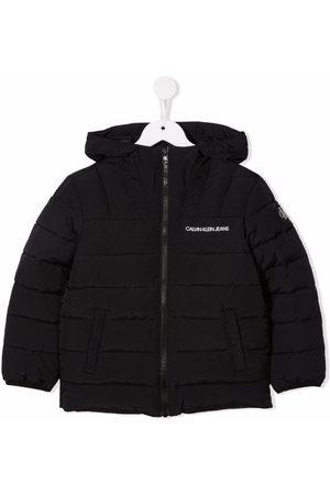 Calvin Klein Niño Abrigos - Logo-print hooded padded coat