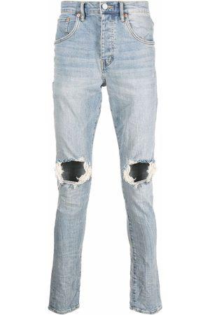 Purple Brand Hombre Rectos - Distressed-finish straight-leg jeans