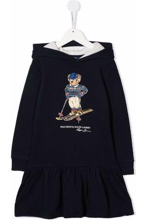 Ralph Lauren Niña Estampados - Signature teddy-print hoodie dress