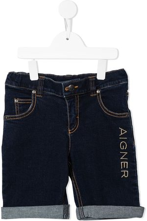 Aigner Kids Niño Bermudas - Shorts con logo bordado