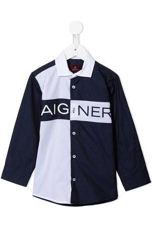 Aigner Niño Camisas - Camisa con logo estampado