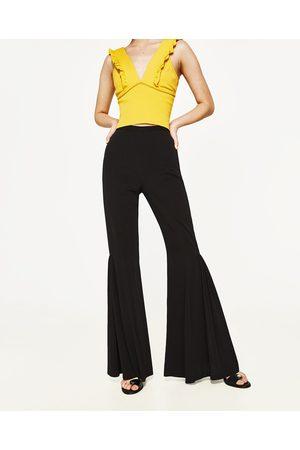 Mujer Pantalones y Leggings - Zara PANTALÓN FLUIDO FLARE