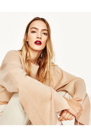 Mujer Zara JERSEY CROPPED DETALLE CINTAS - Disponible en más colores