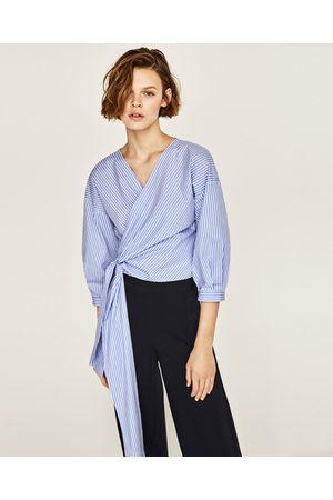 Mujer Camisas y Blusas - Zara CAMISA RAYAS CRUZADA