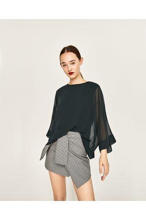 Mujer Camisas y Blusas - Zara CUERPO FLUIDO MANGA JAPONESA